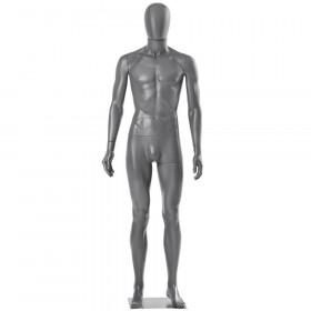 Mannequin homme gris mat