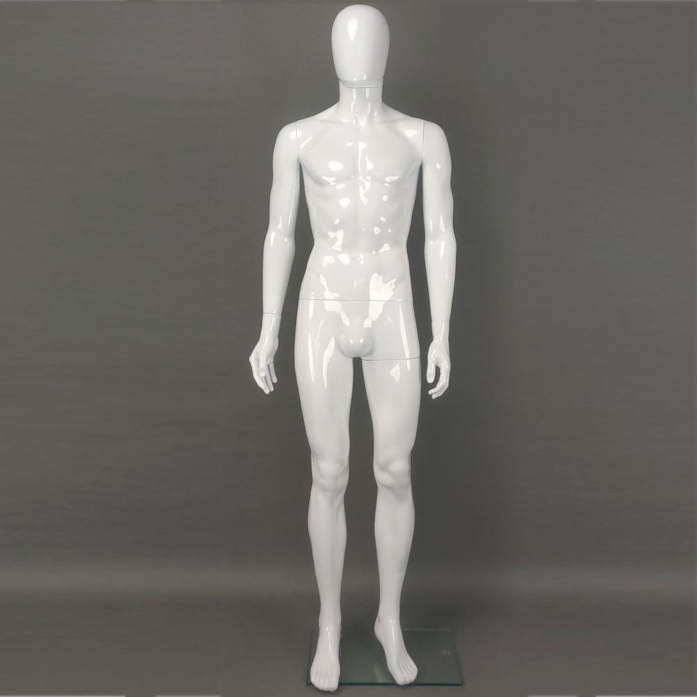 Mannequin homme abstrait blanc brillant