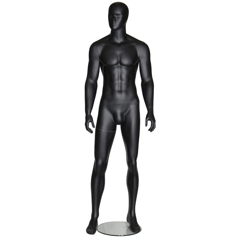 Mannequin homme noir mat AB19BD