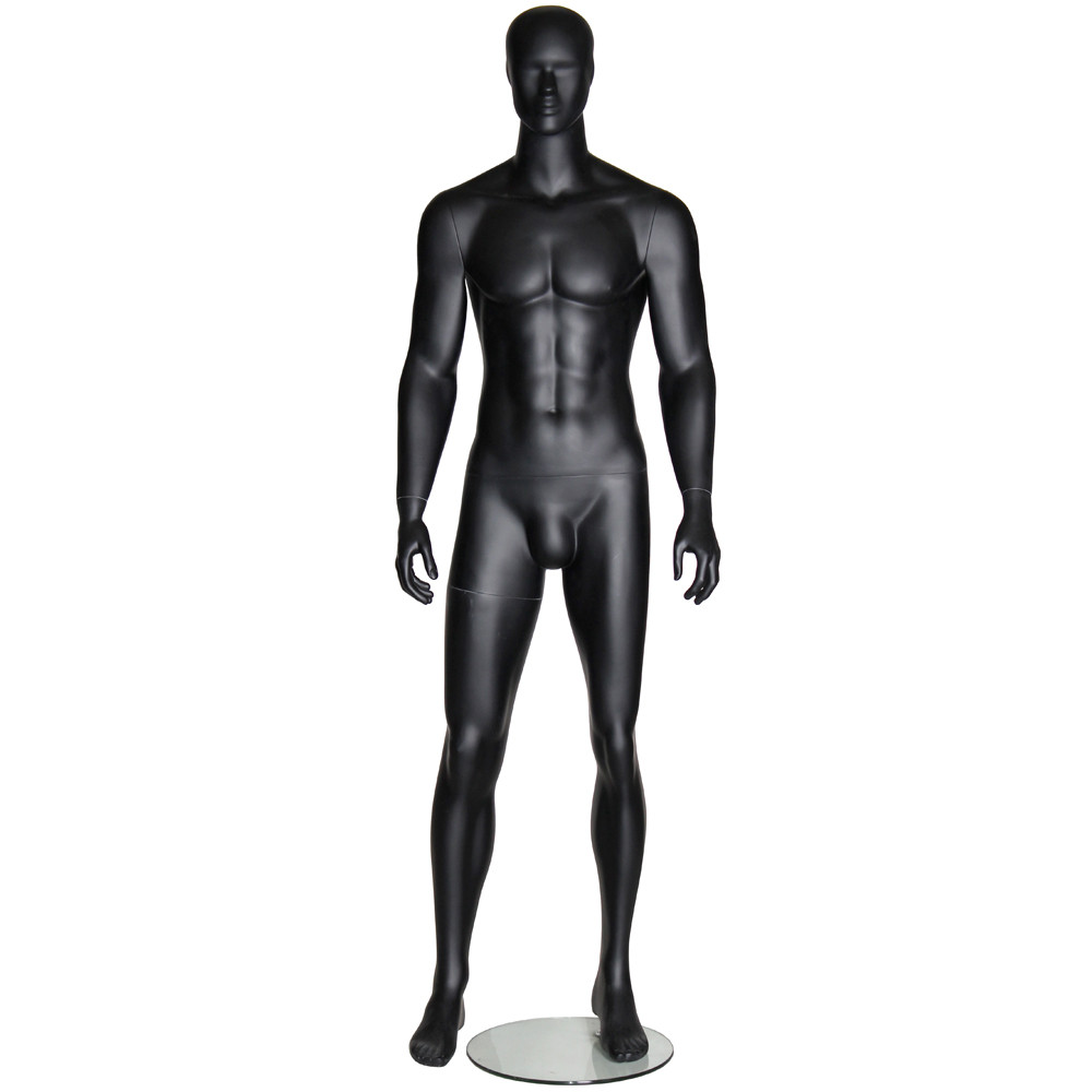 Mannequin homme abstrait noir mat AB19B