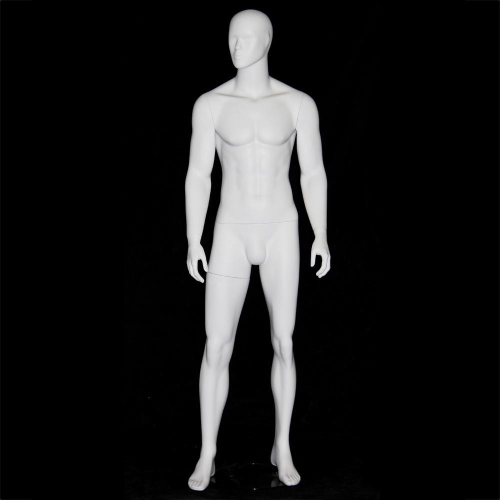 Mannequin homme abstrait blanc mat AB19D