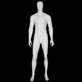 Homme abstrait blanc mat AB19W