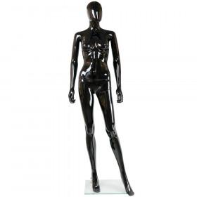 Mannequin femme abstrait noir brillant F1SB