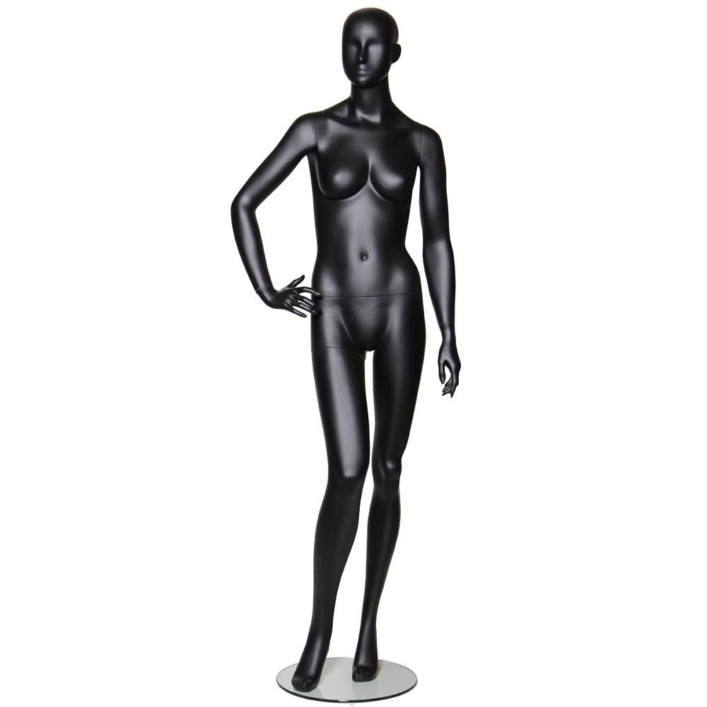 Mannequin femme abstrait noir mat SM78B