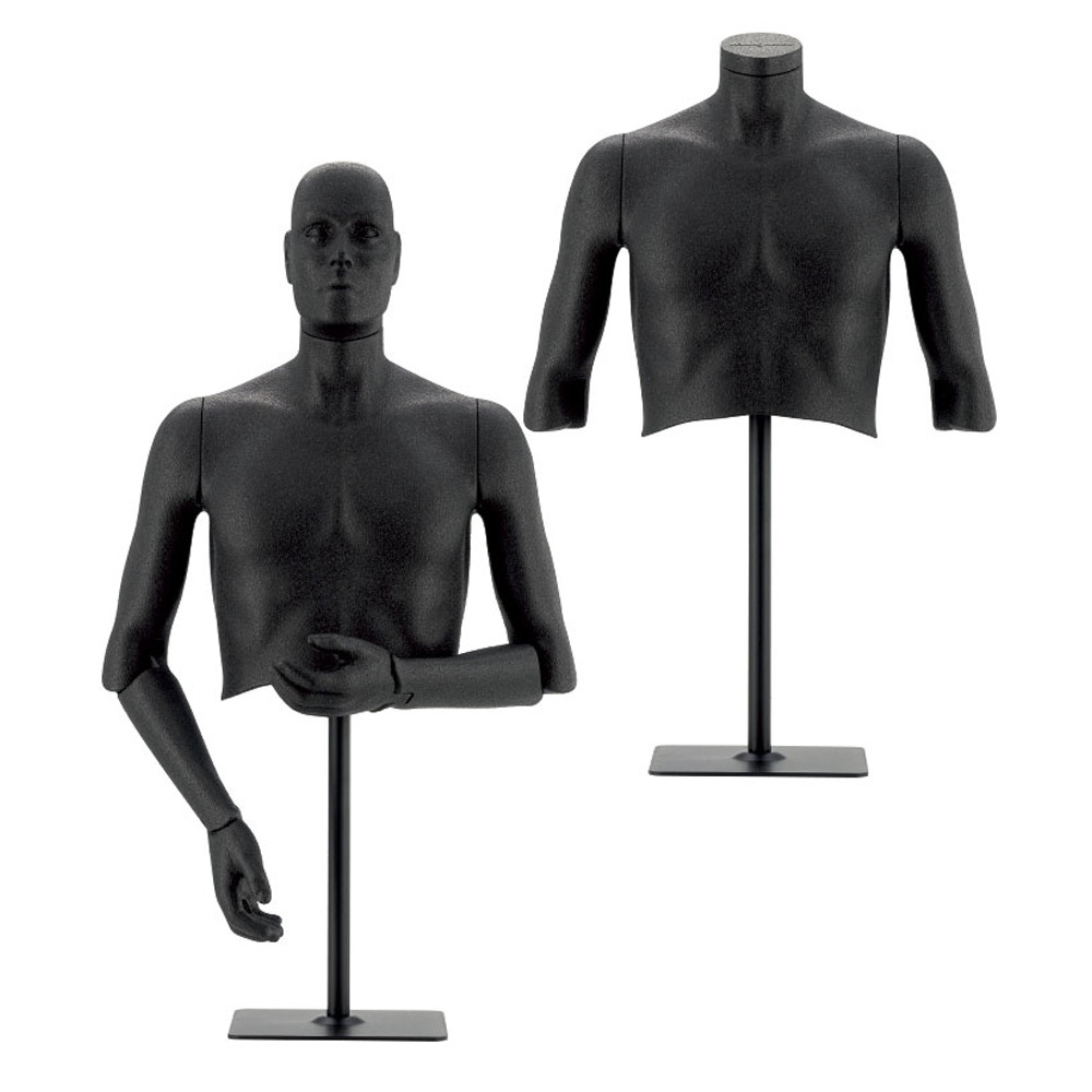 Buste homme polystyrène bras articulés