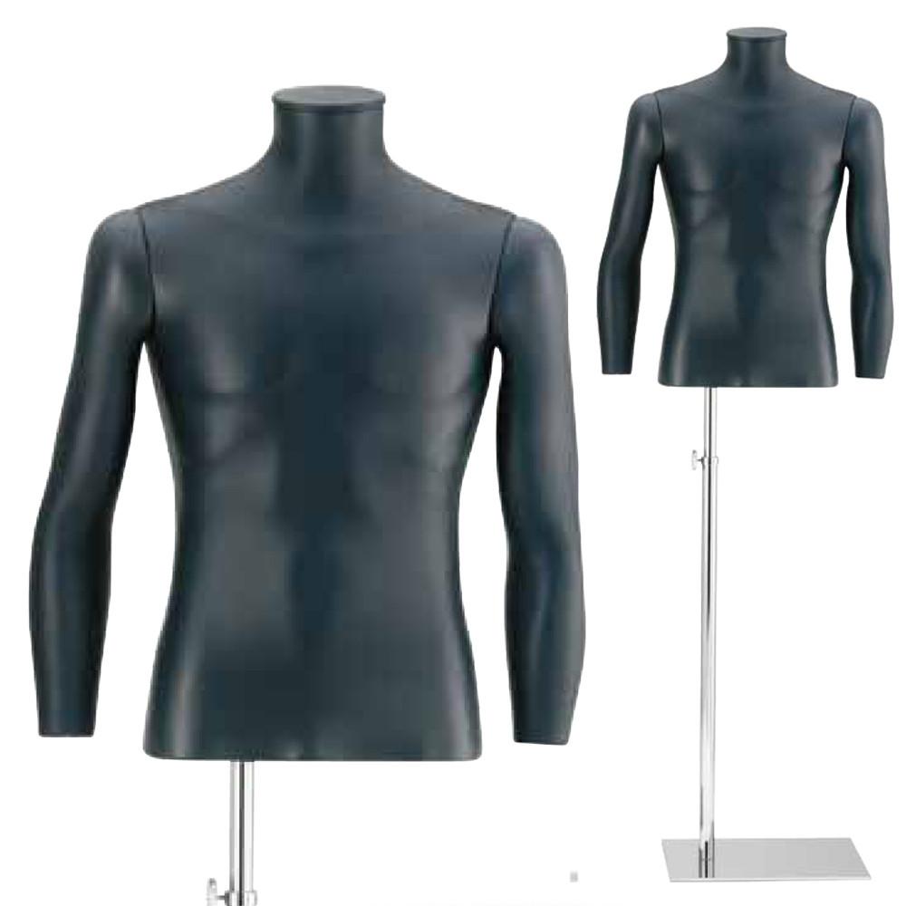Buste homme avec bras recouvert de cuir