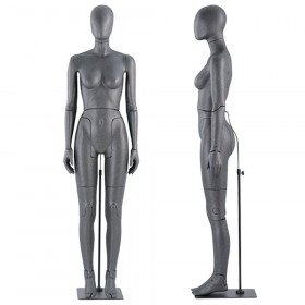 Mannequin femme abstrait totalement articulé