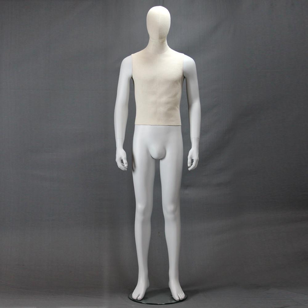 Mannequin homme recouvert tissu