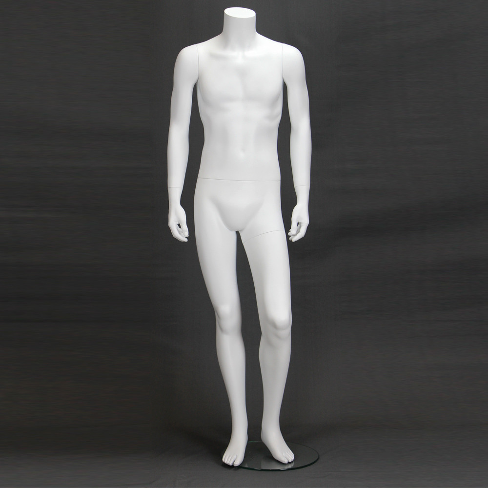 Mannequin homme sans tête blanc mat