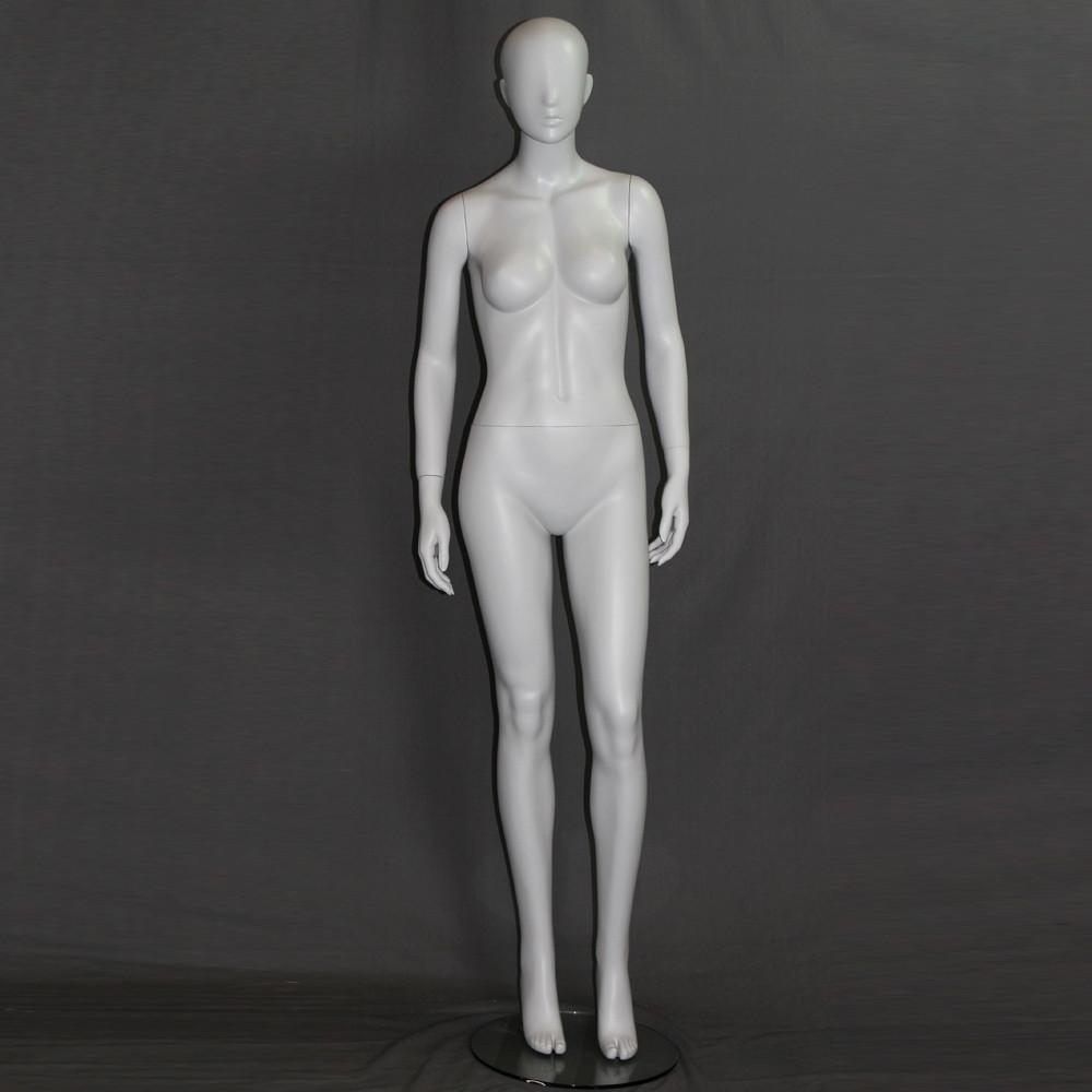 Mannequin femme abstrait gris clair mat