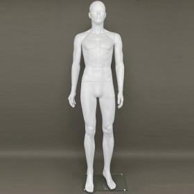 Mannequin homme abstrait blanc mat en plastique