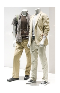 Headless males mannequins
